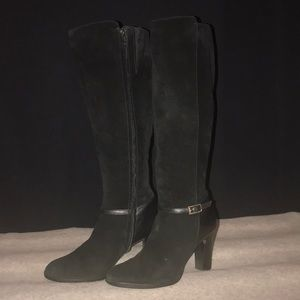 Banana republic black suede and leather boots